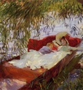 Sargent John Singer Two Women Asleep in a Punt under the Willows