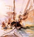 Sargent John Singer Unloading Boats Venice