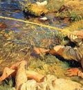 Sargent John Singer Val d Aosta Man Fishing
