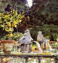 Sargent John Singer Villa de Marlia A Fountain