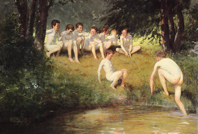 Sauer Joseph Eduard AT THE SWIMMING HOLE