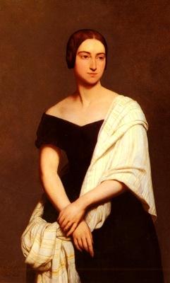 Scheffer Ary Portrait De Mme Frederick Kent