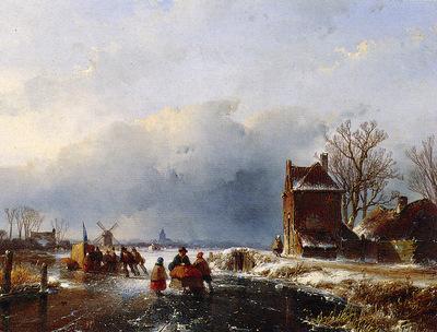 Schelfhout Andreas Merriment on ice 3 Sun