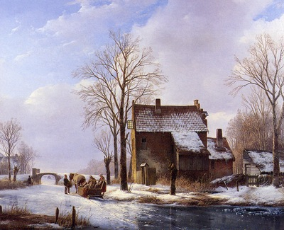 schelfhout andreas scaters near farmers dwelling sun