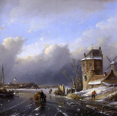 Schelfhout Andreas Winter landscape 2 Sun