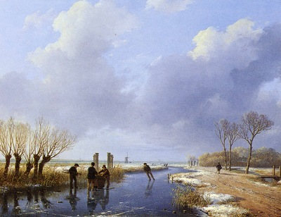 Schelfhout Andreas Wood gatherers Sun