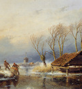 schelfhout andreas farmers with a sledge sun