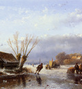 Schelfhout Andreas Scaters on frozen river 4 Sun