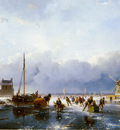 schelfhout andreas scaters on river sun