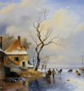 Schelfhout Andreas Winter landscape 1 Sun