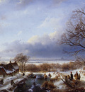 schelfhout andreas winter landscape sun