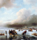 Schelfhout Andreas Winter landscape with scaters