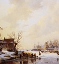 schelfhout andreas winter market on ice sun