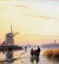 Schelfhout Andreas Winterlandscape Sun