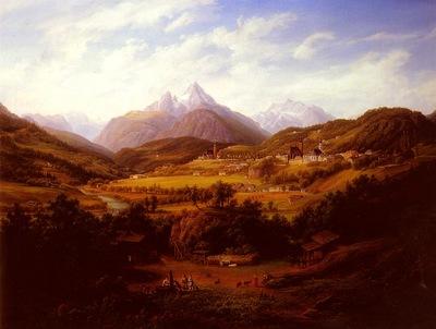 Schiffer Anton Berchtesgaden With The Watzmann Mountain In The Distance