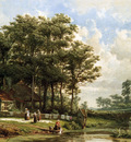 Schipperus Pieter Landscape with farm Sun