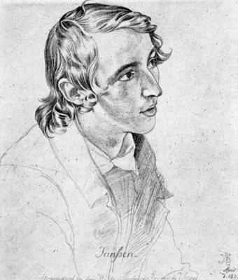 SCHNORR VON CAROLSFELD Julius Portrait Of Victor Emil Jansen