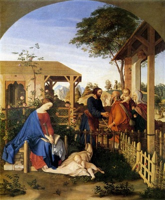 SCHNORR VON CAROLSFELD Julius The family Of St John The Baptist Visiting The Family Of Christ