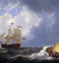 Schotel Johannes Christiaan Ship on choppy sea Sun