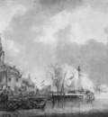 Schotel Johannes Dordrecht under fire of the French Sun