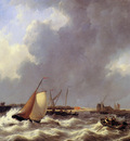 Schotel Petrus Choppy sea at Bath Sun