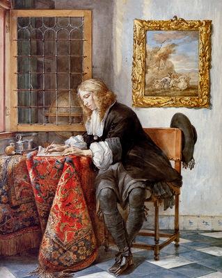 Schouman Aert Gentleman writng a letter Sun