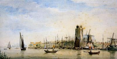 Schouman Aert View of Dordrecht Sun