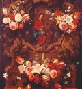 seghers schutt and van thielen floral wreath with madonna and child 17th c