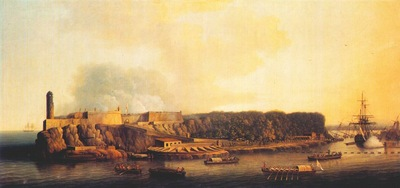 serres the british fleet entering havana 21 august 1762