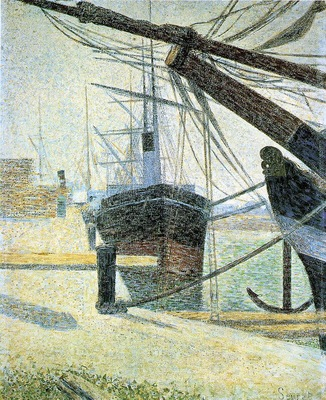 Seurat A Corner of the Harbor of Honfleur, 1886,