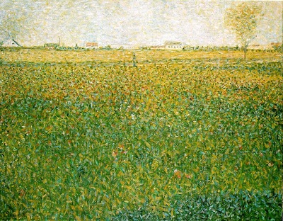 Seurat Alfalfa Fields, Saint Denis, 1885 86,