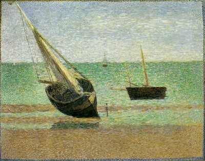 Seurat Boats, Low Tide, Grandcamp