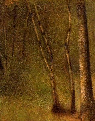 Seurat Forest at Pontaubert, 1881,