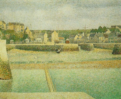 Seurat Port en Bessin The Outer Harbor at Low Tide, 1888,