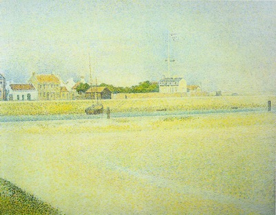 Seurat The Channel at Gravelines, Grand Fort Philippe, 1890,