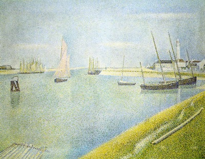 Seurat The Channel at Gravelines, in the direction of the Se