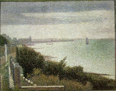 Seurat The English Channel at Grandcamp, 1885,