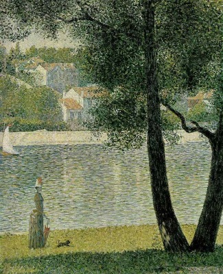 seurat the seine at courbevoie,