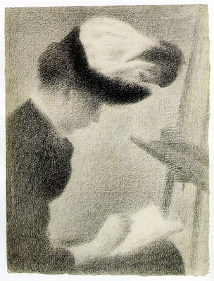 Seurat Woman Seated by an Easel, ca 1884 88, 30 5x23 3 cm,