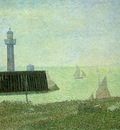 Seurat End of the Jetty, Honfleur, 1886,