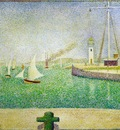 Seurat Entrance to the Port of Honfleur