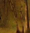 Seurat Forest at Pontaubert, 1881,