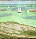 Seurat Port en Bessin Entrance to the Harbor, 1888,