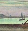 seurat the channel at gravelines, evening,