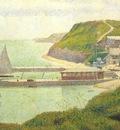 seurat port en bessin the outer harbor at high tide