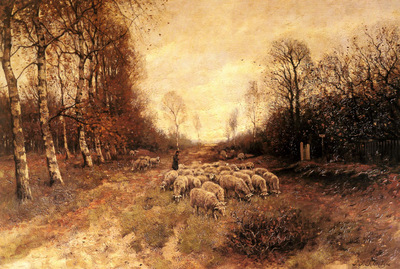 Shiedges Petrus Paulus Grazing Sheep Near Laren
