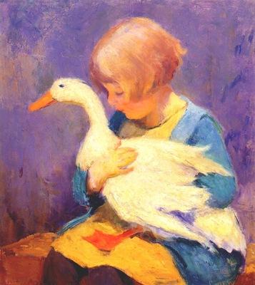 shulz,ada girl with duck c1928