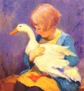 shulz,ada girl with duck c1928