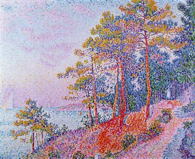 Signac Above Saint Tropez, the Customs House Pathway, 1905,