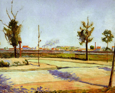 Signac Paul The road of Gennevilliers Sun